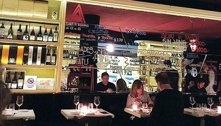 Aldo's, el vino es protagonista