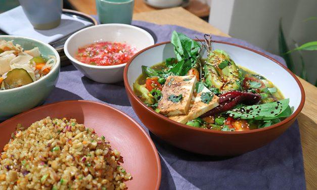 Curry de verduras y salteado de arroz por Mauro Massimino