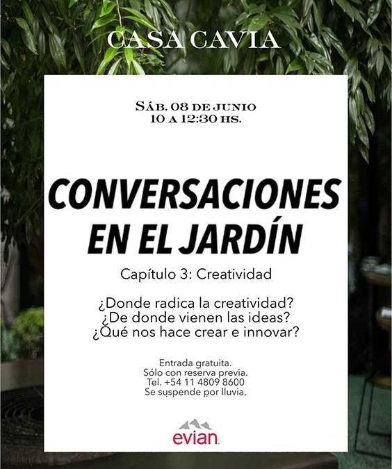 Este sábado el tercer capítulo de Conversaciones en el Jardín