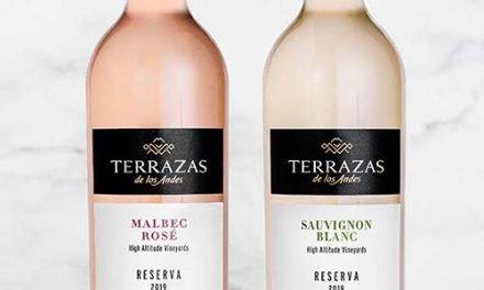 Un rosado y un blanco, lo nuevo de Terrazas de los Andes