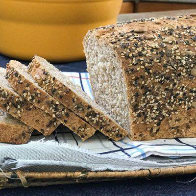 Pan integral y arroz caldoso