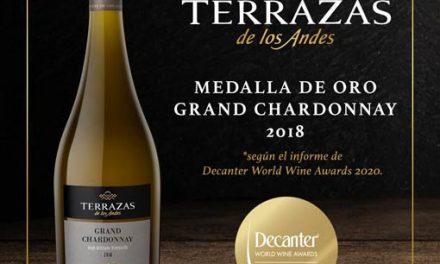 Premio para Terrazas de los Andes Grand Chardonnay 2018
