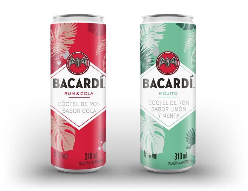 Ready to Drink de Bacardí Sabor Mojito y Ron con Cola