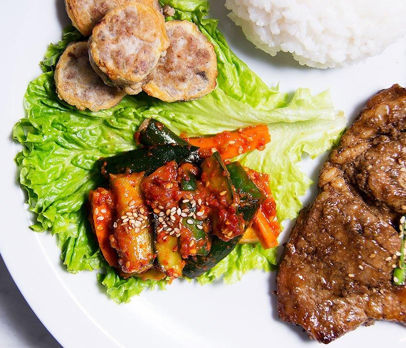 Festival Hansik, cocina coreana, vegetales