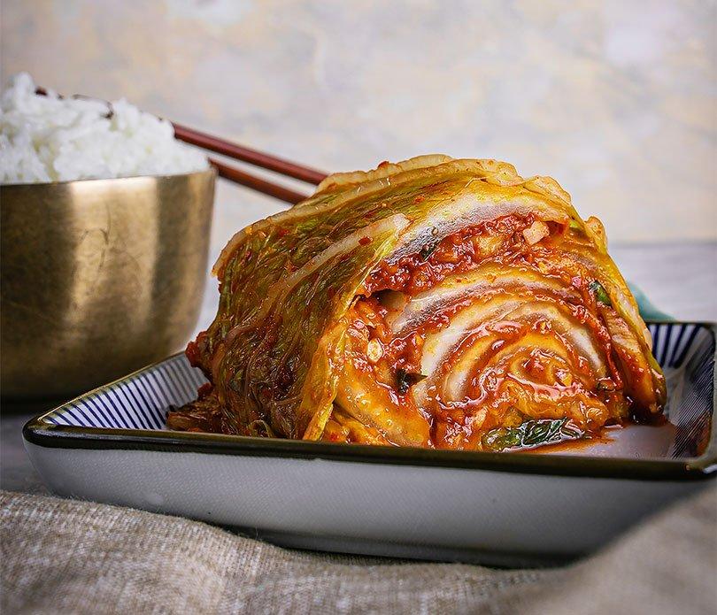 Festival Hansik, cocina coreana, kimchi roll