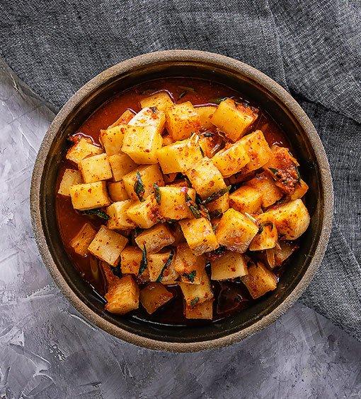 Festival Hansik, cocina coreana, kimchi de nabo
