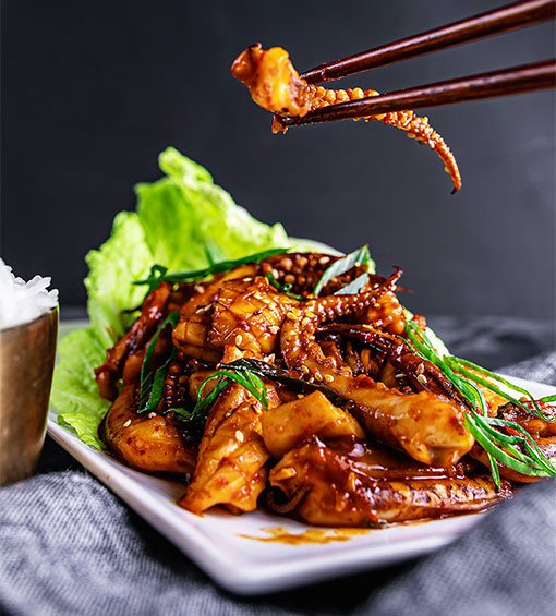 Festival Hansik, cocina coreana, Ojingeo bokkum