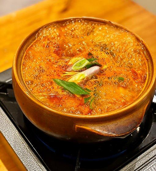 Restaurante Fa Song Song, sopa de kimchi