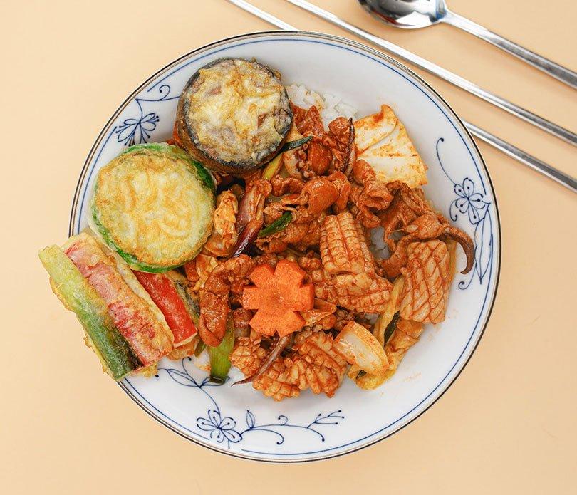 Festival Hansik, cocina coreana, osam bokkum