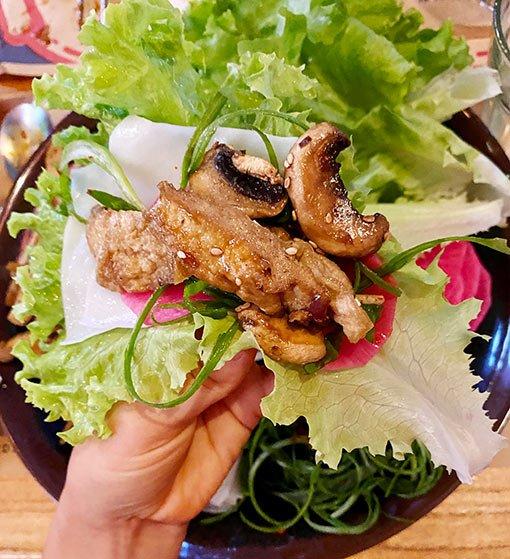 Restaurante Mr Ho, hongos coreanos