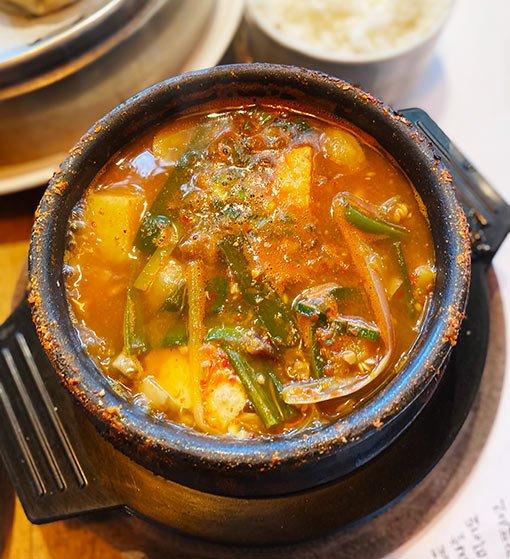 Una Canción Coreana, potaje kimchi
